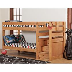 SIMPLY BUNK BED TWIN OVER TWIN W/STAIRSTEP 7087 Image