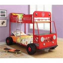 "COASTER ""FIRE RESCUE"" BUNK BED 460026 Image"