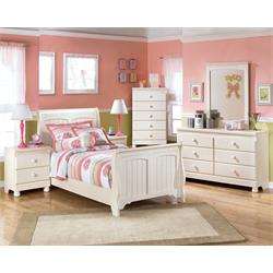 "ASHLEY ""COTTAGE RETREAT"" TWIN SLEIGH BED SET B213-62-63-82 Image"