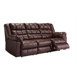 "ASHLEY ""BROLAYNE SADDLE"" DUAL RECLINING SOFA 8320288 Image"