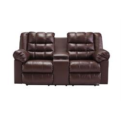 "ASHLEY ""BROLAYNE SADDLE"" DUAL RECLINIG LOVESEAT 8320294 Image"
