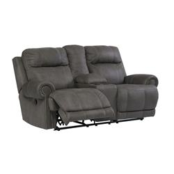 "ASHLEY ""AUSTERE GRAY"" RECLINING LOVESEAT 3840194 Image"