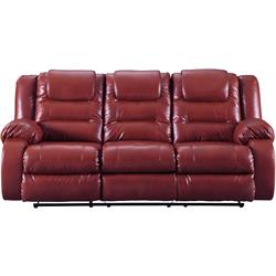 "ASHLEY ""VACHERIE SALSA"" DUAL RECLINING SOFA 7930688 Image"
