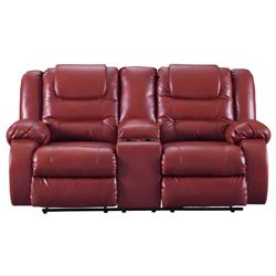 "ASHLEY ""VACHERIE SALSA"" DUAL RECLINING LOVESEAT 7930694 Image"