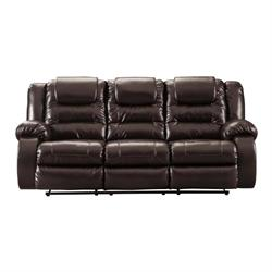 "ASHLEY ""VACHERIE CHOCOLATE"" DUAL RECLINING SOFA 7930788 Image"