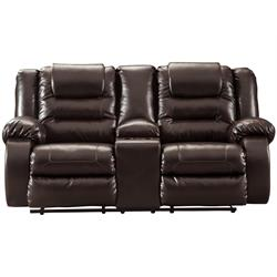 "ASHLEY ""VACHERIE CHOCOLATE"" DUAL RECLINING LOVESEA 7930794 Image"