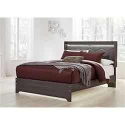 "ASHLEY ""ANNIKUS GRAY"" QUEEN BED SET B132-54-57-96 Image"